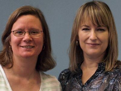 Wendy Cholbi, tech expert, and Pamela Wilson, designer.